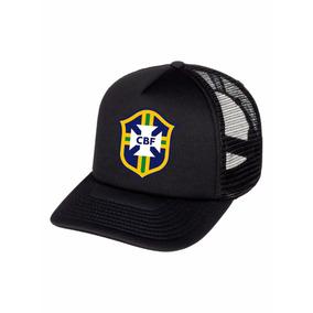 Boné Trucker Seleção Brasil Feminino Masculino 4c8ae472577