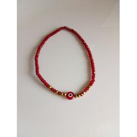 Pulsera Roja Con Ojo Turco ( Cristal )
