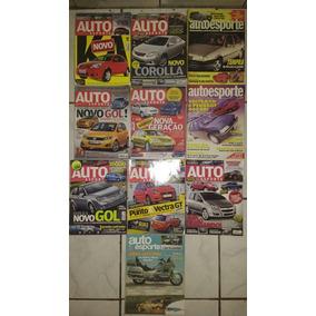 10 Revistas Auto Esporte Coleção Carros Frete Grátis