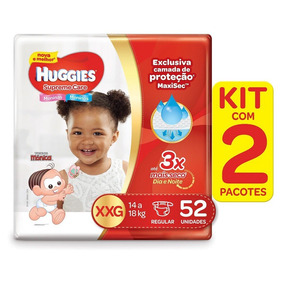 Kit De Fraldas Huggies Supreme Care Xxg - 104 Fraldas