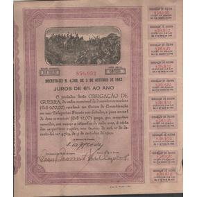 Antigo Titulo Obrigações De Guerra Ano 1942 - 293