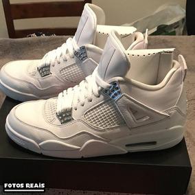 Nike Air Jordan 4 - Branco / Prata - Leia A Descrição