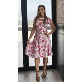 Vestido Caroline Suplex Digital Com Cinto Pink