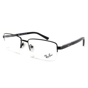 86c9e7ef23f4c Armação Oculos Grau Acetato metal Preto Importado Ref13 - Óculos no ...
