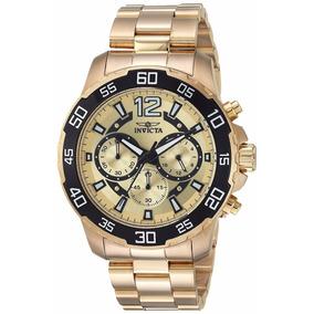 Invicta Hombre 22715 Pro Diver Reloj Acero Inoxidable Dorado