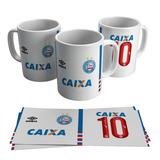 a8f5529bc Caneca Bahia Tricolor Camisa Uniforme Time Futebol Escudo