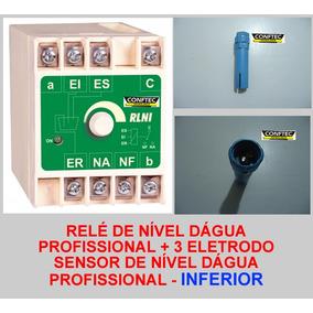Relé Nível Inferior + 3 Sensores Profissional Aquicompras