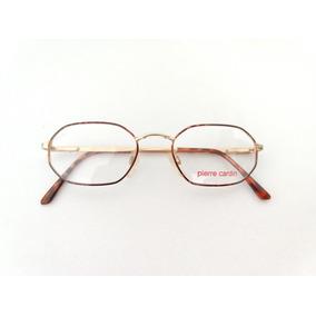 Armação Oculos Pequeno Pierre Cardin Multifocal Dourado Inox. R  129 24d5ff0a51