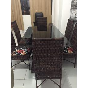 Mesas De Vidro Com 6 Cadeiras