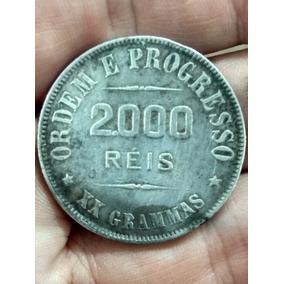 Moeda Antiga 2000 Reis 1912 Xx Gramas Prata