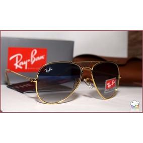 Óculos Ray Ban Rb Aviador Lentes Azul Marron De Sol - Óculos no ... ddf0a0453b