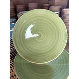 Plato Trinche 25cm Ceramica De Calidad 6 Piezas
