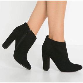 ce4a0f42 Zapato Dama Color Negro Piel Borrego Pelibuey 4 Cms - Botines para ...