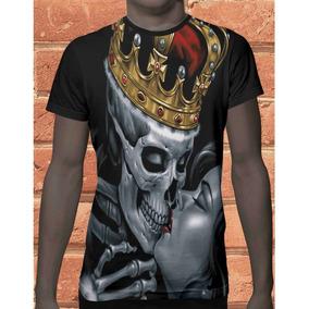 Camiseta Camisa Tattoo Tatuagem Caveira Psicodelico Beijo 1 a0b99dc3719