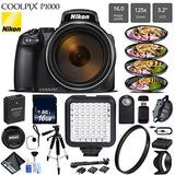 Nikon Coolpix P1000 Digital Camera 16mp 125x Optical Zoom &