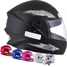 Capacete De Moto Masculino New Four 4 Preto Promoção