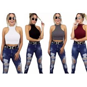 Regata Cavada Feminina Pra Usar Com Cropped - Camisetas e Blusas no ... bfcd000171564