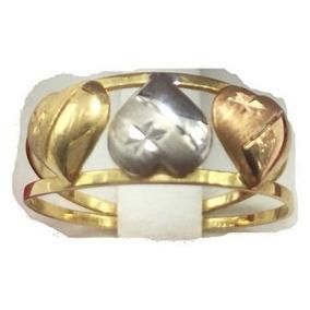 0d4ae8c61d9 4154 Anel Tres Aros Triclor De Ouro 18k 750 Legítimo - Anéis com o ...
