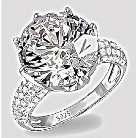 Anel Em Prata Com Diamante - Anel de Prata no Mercado Livre Brasil 8b3f7f14e7