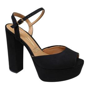 28f123611d Sandalias Salto Grosso Alta Vizzano Preta Vários Modelos - Sapatos ...