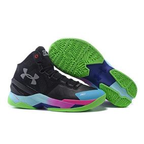 8dccf765b9834 Zapatos Botas Stephen Curry 2 Black Green Pink Blue