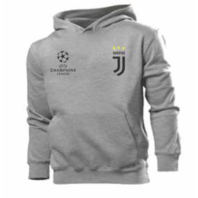 Blusa Moleton Canguru Juventus Futebol Champions Customizada 48e8061d1c77e