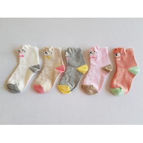Calcetines De Gatos Con Orejas Para Niña, Gatitos (5 Pares)