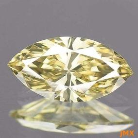 Diamante Amarillo Canario .40 Cts. Corte Marquise Jm29
