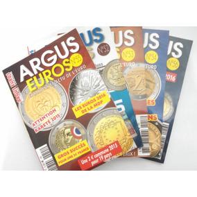5 Catálogos De Moedas Argus - Europa - Euro - Em Francês