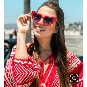 42ae357c10cc5 Oculos De Sol Feminino Com Formato De Coracao - Óculos no Mercado ...