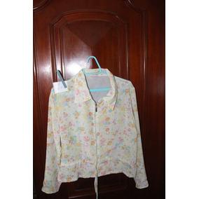 = Roupa Lote 622 Mulher Camisa Social Florida Com Ziper 4