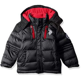 Chamarra Us Polo Assn 14 Bordada Color Negro Nueva Original