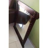 Vendó Espejo De Repisa En Caoba En Perfecto Estado/ 9.0