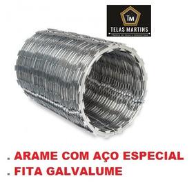 Cerca Concertina Dupla Clipada 45 Arame De Aço