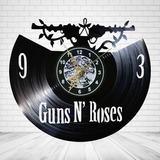 Reloj Vinil De Pared Guns N