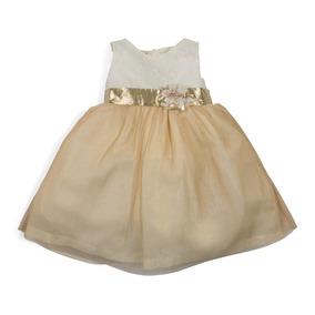 Vestido Baby Colors Dorado Pr-5021572