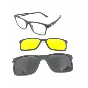 8081062b4 Armação Oculos Grau Sol Masculino Rb2088 2 Clip On Lançament