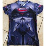 Camiseta De Gym Compresión Batman Superman Cap America Etc