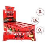 Wheybar Protein Chocolate Com Amendoim Cx - 24un De 40g Cada