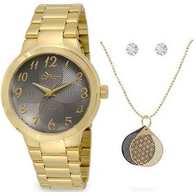 f37b68cc739 Kit Corrente E Brincos - Relógios De Pulso no Mercado Livre Brasil