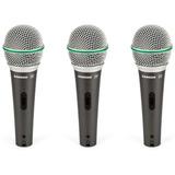 Pack De 3 Micrófonos Dinámicos Samson Q63p Con Switch