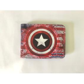 Carteira Do Capitão América Top Vingadores Bolsa Super Herói
