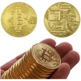 Bitcoin Moneda Lote 10 Monedas Con Capsula Envío Gratis!