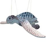 Flying Sea Turtle Wood Windchime Or Mobile