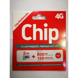 Chip Claro 120 Min + 800 Mb + 2 Gb Redes Sociales