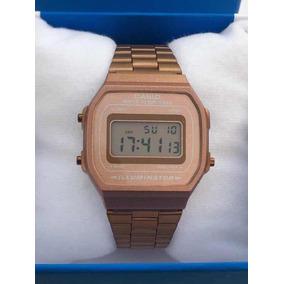 Reloj Casio Rosa Mate A168 Rose Gold Dama