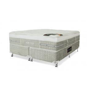 Cama Box Queen Castor|colchão Eurotop S&w Mola Pocket+box Si