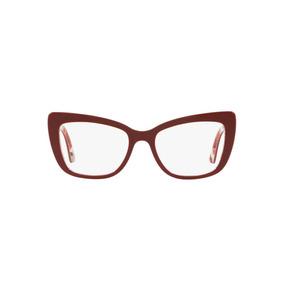 7e6dc5af29514 Óculos Dolce   Gabbana Dg3308 3202 Vinho Lente Tam 51
