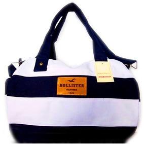 Bolsa Feminina Mala Hollister Ziper Cores Original Importada