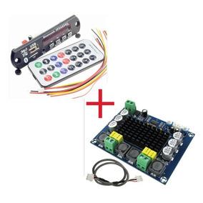 Amplificador 240wrms Diy Decodificador Bluetooth Caixa Ativa